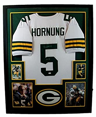 Paul Hornung Framed Jersey Signed JSA COA Autographed Green Bay Packers Notre Dame