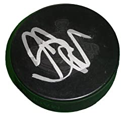 Scott Niedermayer Autographed 2007 Stanley Cup Champions Anaheim Ducks Logo Hockey Puck, Proof Photo