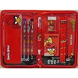 Licensed Rovio Angry Birds RED Stationary Set - PENCIL CASE / PENCILS / ERASER