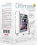 ★ The Ultimate Bundle for iPhone 6 ★ - 7 in 1 Accessory Kit - White - MFI Apple-Certified - Gift Packaging Includes: 3ft Apple Certified Lightning Cable, Wall Charger, Car Charger, 3.5mm Earbuds Headset with Remote and Mic, Clear HD Screen Protector w/ Cleaning Cloth, TPU Case, Stylus