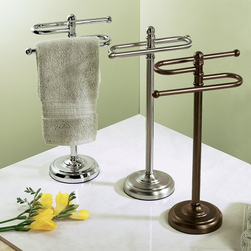 Gatco 1545BZ Counter Top S Style Towel Holder, Bronze