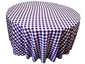 La linen 108 inch round checkered gingham for 108 inch round table cloth