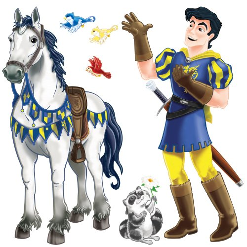 Prince & Trusty Steed Props (racoon & 3 birds included) Party Accessory  (1 count) (2/Pkg) - 1