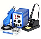 2in1 878ad Rework Soldering Station Iron Welder Hot Air Gun & Tip 640w with Iron & Heat Gun Holders Brand New in Box