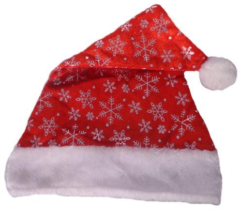 WeGlow International Santa Hat with Snowflake Printing (Set of 4)
