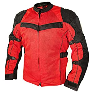 Amazon.com: Xelement XS-8161 All Season Mens Black/Red Tri-Tex/Mesh