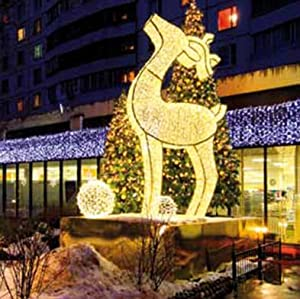 3 9 Giant Commercial Grade Led Lighted Waterloo Reindeer