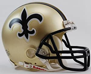 New Orleans Saints 1976-99 Throwback Replica Mini Helmet w/ Z2B Face Mask