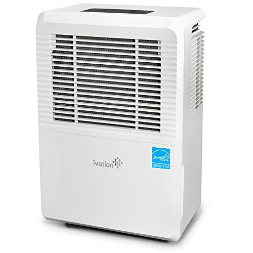 Ivation 70 Pint Energy Star Dehumidifier - Large-Capacity For Spaces Up To 4,500 Sq Ft - Includes Programmable Humidistat, Hose Connector, Auto Shutoff / Restart, Timer, Casters & Washable Air Filter (70 Pints Dehumidifier compare prices)