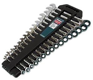 Kamasa 55774 Jeu de 16 clés mixtes à cliquet (Import Grande Bretagne