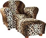 Fantasy Furniture Roundy Chair with Ottoman, Leopard by Fantasy Furniture