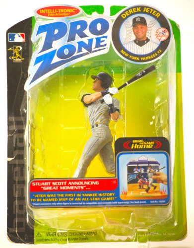 2002 - Playmates - Pro Zone - Derek Jeter #12 - New York Yankees - Intelli-Tronic Voice Activation - Out of Prduction - Action Figure - Limited Edition - Collectible