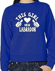 This Girl Loves Her Labrador Dog Ladies Unisex Sweatshirt Size S-XXL