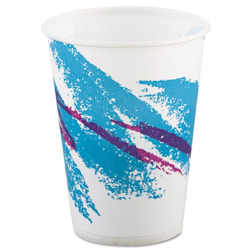 SOLO Cup Company Jazz Waxed Paper Cold Cups, 9 oz, Tide Design - Includes 20 packs of 100 each.