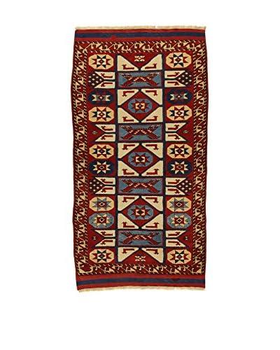 L'Eden del Tappeto Alfombra Konya Antik Rojo / Multicolor 104 x 181 cm