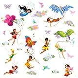 Roommates Disney Fairies Peel And Stick Wall Decals, Multi Color