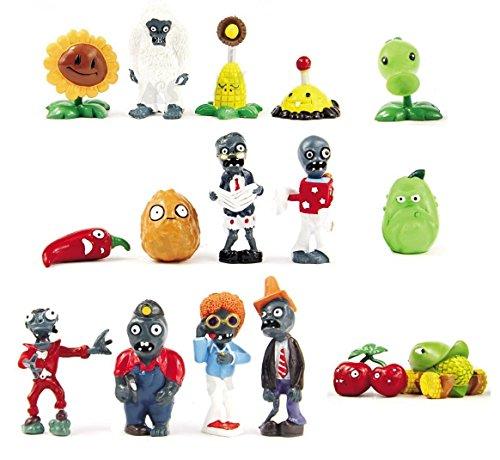 BIGOCT 16 X Plants vs Zombies Toys Series Game Role Figure Display Toy PVC Gargantuar Craze Dave Dr. Zomboss Action Figure (Plants Vs Zombies Toys Figures compare prices)