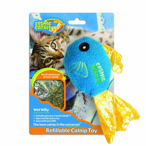 image OurPets 100-Percent Catnip Filled Fish Cat Toy Wet Willy
