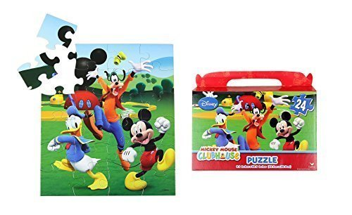 "Disney Mickey Mouse Floor Puzzle Gift Box (24-Piece) 9.1"" x 10.3"" - 1"