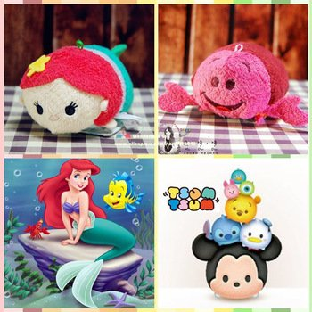 Ariel Little Mermaid and Sebastian Lobster 2pcs Tsum Tsum Plush Toys for Sale