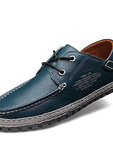 Ei&iLI Chaussures Hommes Extérieure / Bureau & Travail / Décontracté Noir / Bleu / Marron / Bleu royal Cuir Richelieu