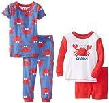 Gerber Baby-Boys Infant 4piezas juego de pijama, manga larga y corta crabby, 12Meses Color: crabby Tamaño: 12Meses infantil, bebé, niño