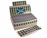ZIG ZAG Rolling Cigarette Paper King Size Slim Booklet Filter Tip Rizla Adult Smoking (Highland Paper + Tips (24 Packets))
