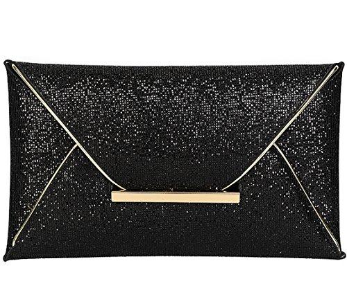 Jubileens-Women-Glitter-Sequins-Handbag-Party-Evening-Envelope-Clutch-Purse-Wallet