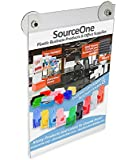 Source One 8 1/2 x 11 Inches Sign Holder Glass Window Mount with 2 Suction Cups (S1-Glass-8511)
