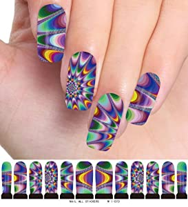 Amazon.com : DGI MART Fashion Nail Decals Temporary