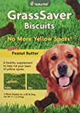 NaturVet – GrassSaver Biscuits | A Healthy Supplement to Help Rid Your Lawn of Yellow Spots | Enhanced with a Tasty Peanut Butter Flavor (11.1 oz Box)