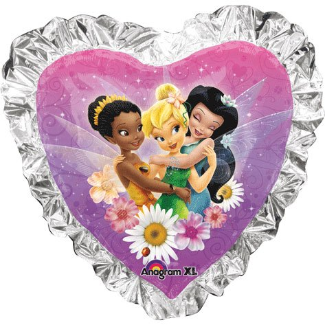 Tinkerbell And Friends Heart Super Shape Foil Balloon (1 per package) - 1