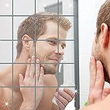 """16pcs Miroirs décoratifs auto-adhésif Tuiles Miroir Stickers Muraux Miroir Décor Mosaic Place 5.9 """"X5.9"""" (15x15cm)..."""