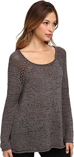 Joie Women's Duran Tape Yarn Sweater, Charcoal, Medium