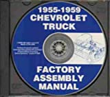 1955 CHEVY & GMC PICKUP TRUCK FACTORY ASSEMBLY INSTRUCTION MANUAL CD-ROM - COVERS: C10, C20, C30, C1500, C2500, C3500, K5, K10, K20, K30, K1500, K2500, K3500, stakebed, Suburban, full-size Blazer, full-size Jimmy CHEVROLET 55