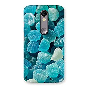 Delighted Bluish Gem Print Back Case Cover for Moto X Force