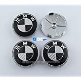 D&R® Set Of 4 pcs 68mm Carbon Fiber Wheel Center Caps Hubcaps For BMW (Color1)