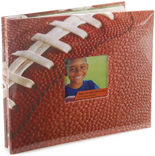 MCS MBI 10 Page, 8 by 8 -inch, Football Theme Scrapbook, Overall 9.6 x 8. 5 Scrapbook with Photo Opening Front (Football Scrapbook Album compare prices)