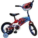 Spiderman Kid's Bike, 12 inch Wheels, 8 inch Frame, Boy's Bike, Red/Blue