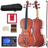 Cecilio CVA-400 Solidwood Viola with D\'Addario Prelude Strings, Size 16-Inch