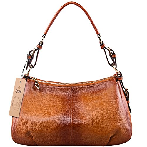 S-ZONE-Women-Vintage-Cow-Leather-Single-Shoulder-Top-handle-Handbag-Ladies-Purses