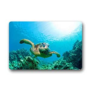 Amazon Com Custom Sea Turtle Ocean Hawaiian Door Mats
