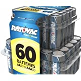 Rayovac Alkaline AA Batteries, 30-Pack AA + 30-Pack AAA with Recloseable Lid (AL-60PPF)