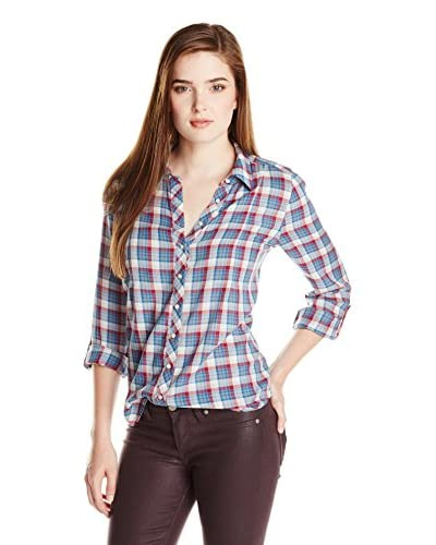 Joie Women's Moschina B Grungy Cotton Plaid Button Down Shirt