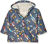 Hatley Boys' Classic Printed Raincoat, Retro Rockets, 18-24 Months