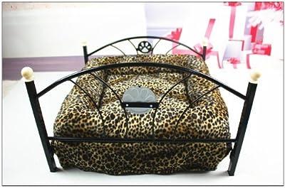 Pawz Road Pet Beds Dog/cat Bed Soft Warm Dog Kennel Pet Cushion Upscale Metal Frame Zebra-stripe Mattress Bed