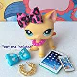 Littlest Pet Shop Accessories Tablet Phone Necklaces Bows Lps Cat Not Included