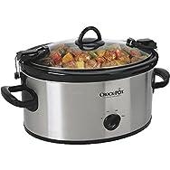 Rival 6 Quart Crock Pot Slow Cooker-SS 6QT OVAL SLOW COOKER