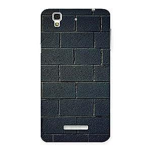 Cute Black Wall Multicolor Grain Back Case Cover for Yu Yureka