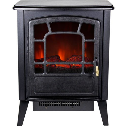 Frigidaire RSF-10324 Bern Retro Style Floor Standing Electric Fireplace - Black